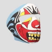 Insane <b>Clown</b> Neoprene Face <b>Mask</b>