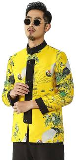 XPF Chinese <b>Traditional Men's</b> Autumn Zhongshan <b>Suit</b> - Kung Fu ...