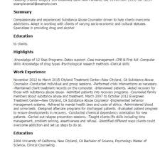 substance abuse counselor resume resume templates substance abuse counselor resume sample substance abuse counselor resume