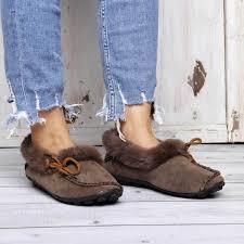 Abelleday 2018 <b>Women's Fur Winter Suede</b> Flat Heel <b>Snow</b> Boots ...