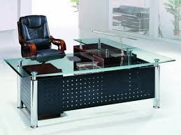 glass l shaped office desk. contemporary glass office table top l shaped executive designs with black vinyl director swivel arm chair in small space modern white home desk