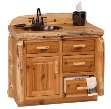 washstand bathroom pine: quot cedar log vanity sink left