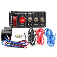 <b>Ignition Switch 12V Panel</b> Engine Start Push Button LED Toggle for ...