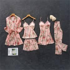 2019 <b>Daeyard</b> Women'S <b>Pajamas Silk</b> Floral Overall Print <b>Pajama</b> ...