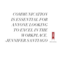 a peek inside her agenda jennifer santiago her agenda communication is essential for anyone looking to excel in the workplace jennifer