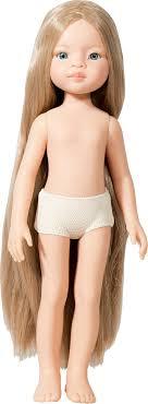 <b>Кукла Маника</b> б/о, 32 см (глаза голубые, волосы до щиколоток ...