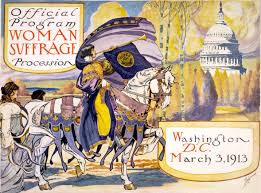 women s suffrage in the united states official program of the w suffrage parade of 1913 in the actual the w on horseback was inez milholland
