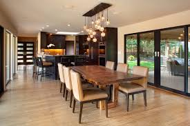 contemporary kitchen contemporary eat in kitchen idea in portland breakfast table lighting