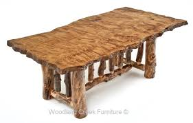 wood slab dining table beautiful:  aspen dining table with slab top