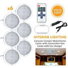 6x 12V <b>LED</b> Down <b>Light</b> Cabin <b>Ceiling</b> Lamp Caravan/Camper ...
