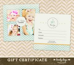 gift certificate photography gift certificate template for professional photographers instant