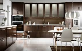 Concept Ikea Modern Kitchen A With Brown Drawers Doors Glass Ideas