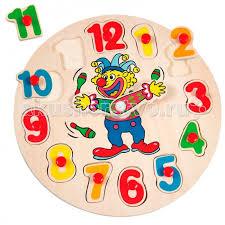 <b>Пазл</b>-<b>вкладыш</b> Часы с клоуном <b>Mertens</b> — купить в Москве в ...