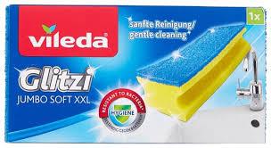 <b>Губка Vileda Глитци</b> Джамбо Софт для ванной комнаты 1 шт ...