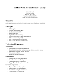 writing dental assistant resume effectively com sample cerified dental assistant resume examples professional experience objective