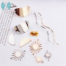 DIY alloy accessories, handmade <b>wafer</b>, wave, butterfly knot ...