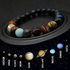 <b>2019 Brand New Style</b> Eight Planets Bead Bracelet Men Natural ...