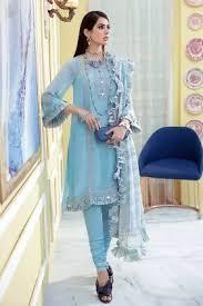 GulAhmed Premium <b>Embroidered</b> Suits with <b>Chiffon</b> Dupatta