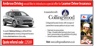 Learner Driver Insurance - ambrose driving