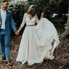 Discount <b>LORIE Boho</b> Wedding Dress Long Sleeves A Line White ...