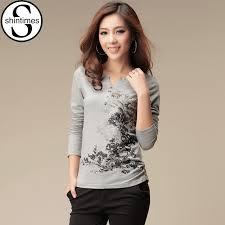 <b>shintimes</b> Graphic Tees Women Tshirt Long Sleeve T Shirt Women ...