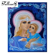 <b>FULLCANG diy diamond painting</b> religious people diamond ...