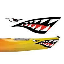 <b>2pcs Waterproof</b> DIY Funny Rowing <b>Kayak Boat</b> Shark Teeth ...