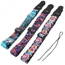 <b>Adjustable Printing Guitar Strap</b> with National Style Flowers Pattern ...