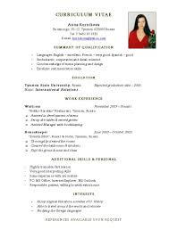 cv in english simple cv resumes maker guide cv in english simple english teacher cv template dayjob simple resume template english cv fv4ea4st