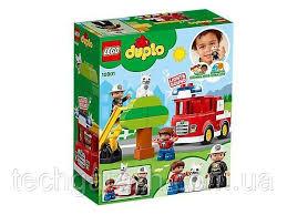 <b>Конструктор LEGO DUPLO</b> - <b>Пожарная</b> машина 21 деталь (10901 ...