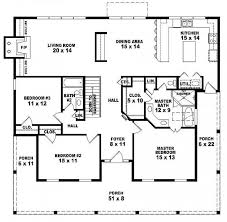ideas about Country Style Houses on Pinterest   House plans        One story bedroom  bath country style house plan   House