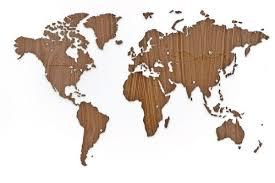 <b>Деревянная карта мира World</b> Map Wall Decoration Exclusive, орех