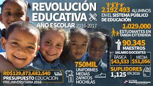 Resultado de imagen para inicio año escolar 2017 rep dominicana