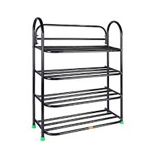 <b>Universal Foldable Metal</b> Book Shelf,Book Stand with 4 Racks ...