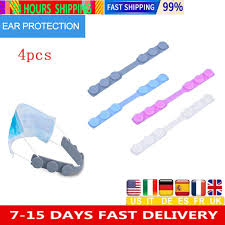 4pcs <b>Adjustable Anti slip Mask Ear</b> Grips Extension Hook Face ...