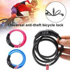 Zeus Universal Anti-Theft 4 Digits Combination <b>Bike Bicycle</b> Safety ...