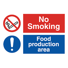 no smoking food preparation area safety sign hygiene sign from no smoking food preparation area safety sign