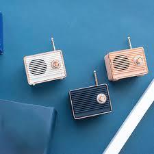 Speaker Mini Bluetooth V4.0 Speaker Subwoofer Vintage Radio ...