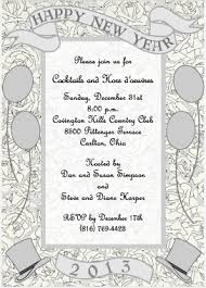Formal New Year's Eve Party Invitation for Parties and Weddings