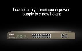Tenda TEF1218P 16 250W <b>16 Port 10</b>/<b>100Mbps</b> with 2 Gigabit Web ...