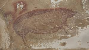 45,500-year-old rock <b>painting</b> of <b>pigs</b> in Indonesia is the oldest ...