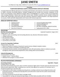 images about best accounting resume templates  amp  samples on    taxpayer services agent resume template   premium resume samples  amp  example
