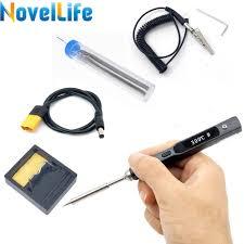 65W Mini TS100 Electric Soldering Iron <b>Portable Adjustable</b> ...