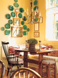 banquette dining room tropical