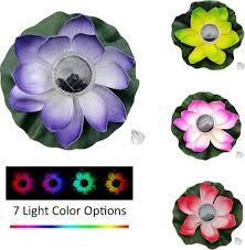 Floating Solar Lotus <b>Lantern</b> LED Lotus <b>Wishing</b> Light Colorful ...
