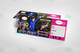 sports invites cheerleading raffle ticket raffle ticket design 3 product 1