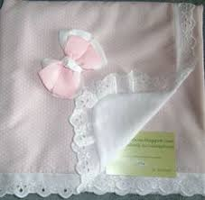 Christening <b>Baby</b> Blanket White <b>Cotton Lace Embroidered</b> Eyelet ...