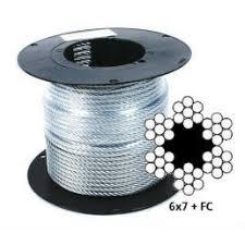 Оцинкованный <b>стальной</b> канат (<b>трос</b>) <b>DIN 3055</b> (6x7+FC)