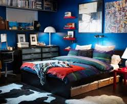 boys room with blue decoration theme cool cozy teenage boys bedroom design with cozy bed awesome design kids bedroom