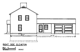 Free Colonial House Plans   Colonial House Floor PlansColonial House Plan Right View